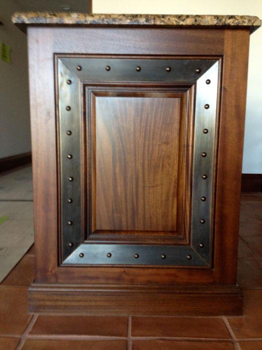 Custom Bronze Cabinet Door Panel Details Oil Rubbed